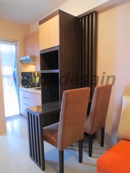 Desain Interior Apartemen Green Bay Bayview Type 2 Bedroom 38 M2 Pluit