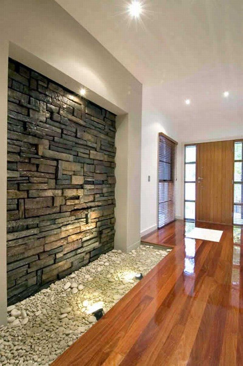 Дизайн интерьера с камнем квартир