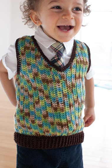 Free Crochet Pattern Newborn Vest : Lornas Laces: Little Crochet