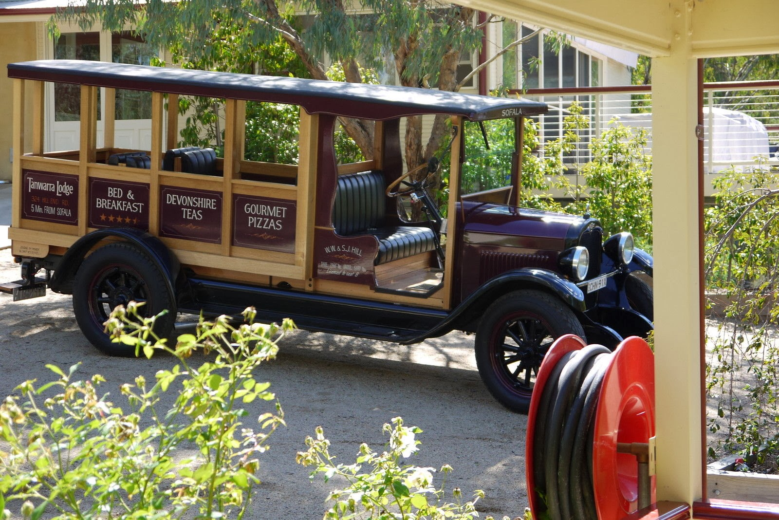 chevrolet capitol one ton truck which has been modified into a eight seat bus as available in the usa in the 1920s it still runs all the original motor