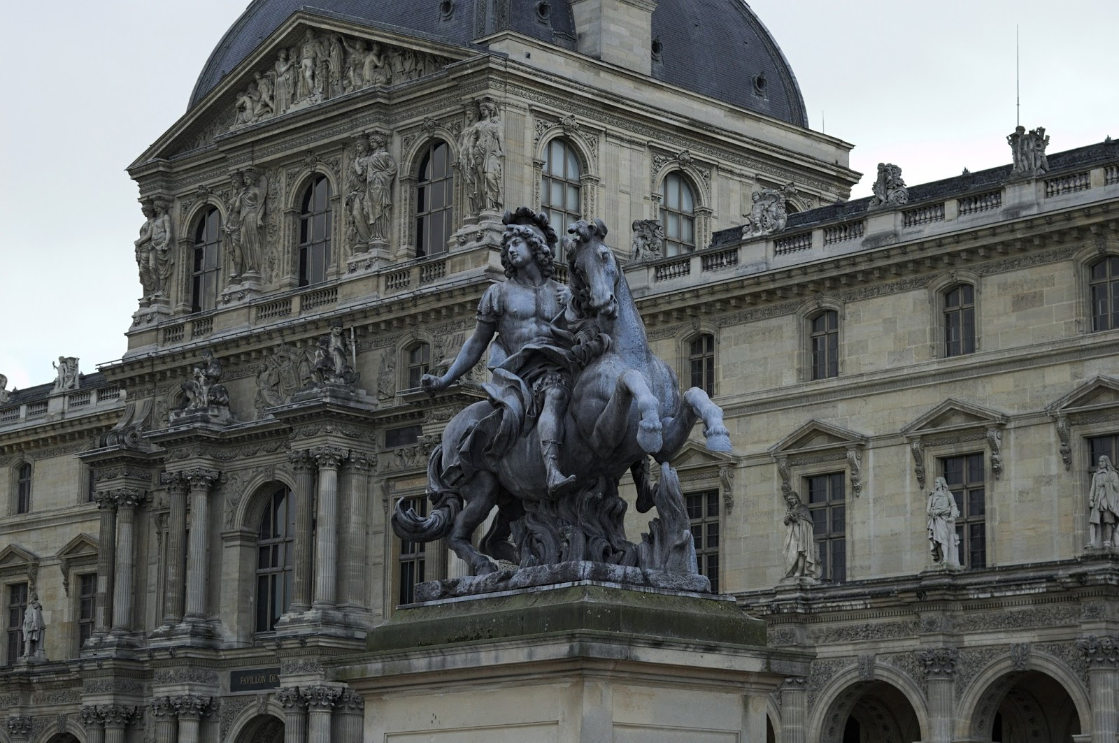 Outside of Louvre museum.