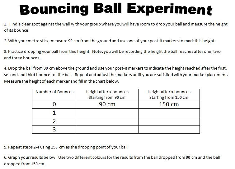 ins'Pi're math: Exponential Graphs - Bouncing Ball ...