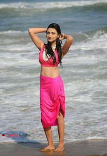 Actress Neelam Upadhyay  Wet Picture Gallery in Pink Bikini Top 0045.jpg