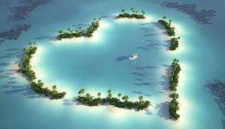 Isla en forma de corazón