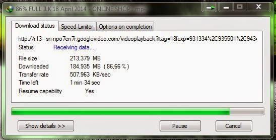 Cara menambah kecepatan Internet Download Manager (IDM)
