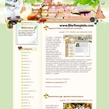 Feast Your Eyes with Fabulous Switzerland blogger template from wordpress. blogger template for travel blog