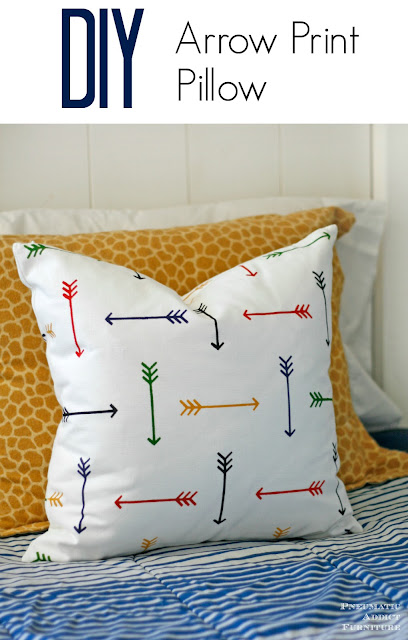 How to make a DIY arrow print throw pillow