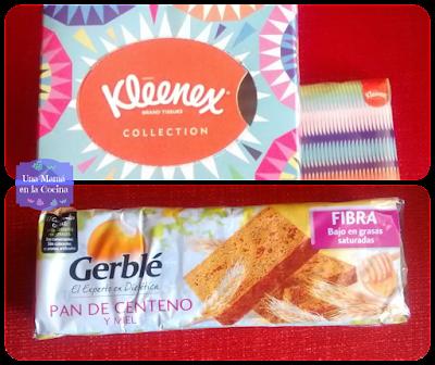 foto de Caja de pañuelos Kleenex y Pan de Centeno Gerblé