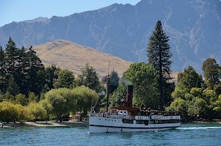 TSS Earnslaw on Lake Wakatipu near the park
