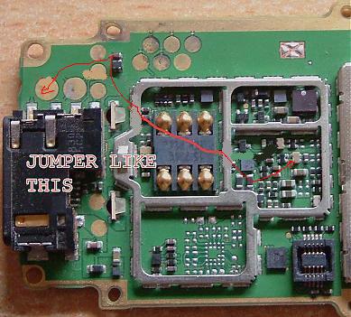 Nokia 1200 1208 mic jumper ways