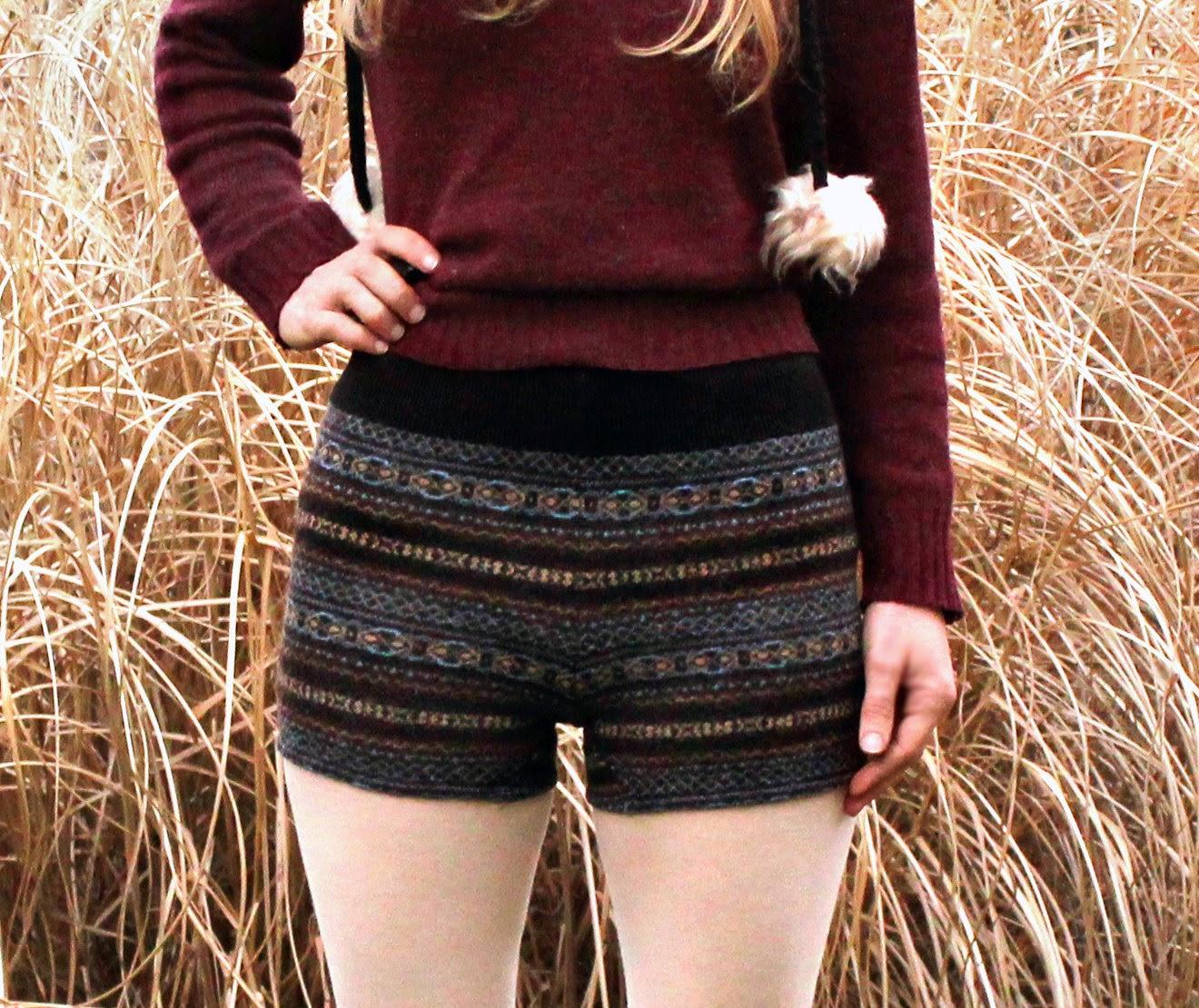 szorty ze swetra