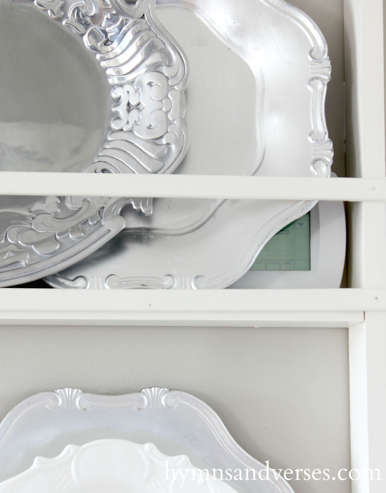 Plate Rack Close Up & Build Your Own DIY Plate Rack - Easy Plans - Hymns and Verses