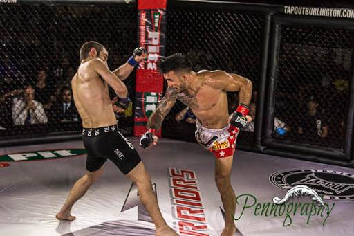 Global Warrior F.C. 2, Denis Puric vs Josh Rich at Burlington Central Arena in Burlington, Ontario on May 30, 2015. Photo: Jeremy Penn / Pennography  NIKON D7100 AF Zoom 17-55mm f/2.8G 1/640, f/2.8 ISO: 2500