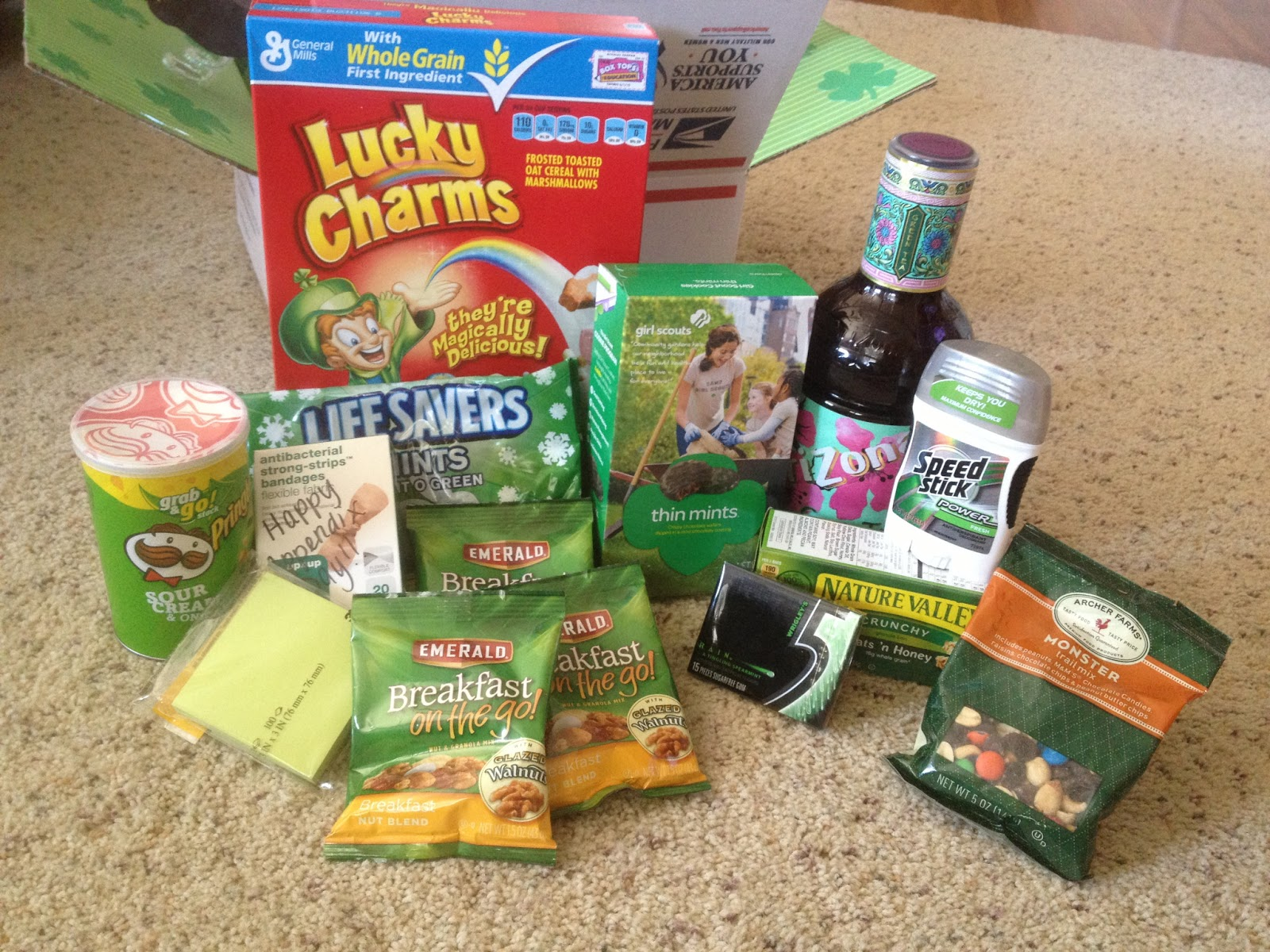 My Soldier and I: Care Package #6: St. Patrick's Day