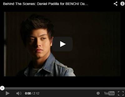 Daniel Padilla for Bench (Video) ~ ShowbizNest