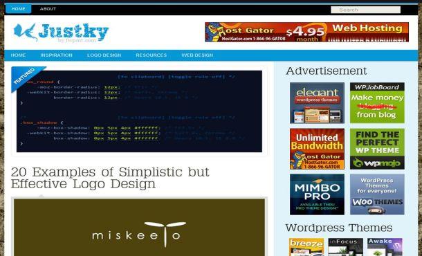 Blue Portfolio WordPress Template