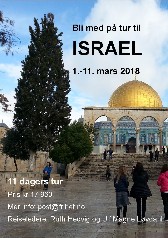 Bli med til Israel i 2018