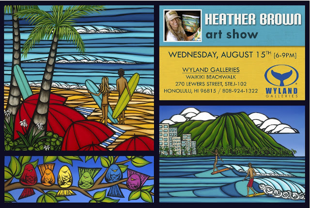 Hawaii Artist Heather Brown Art Show Wyland Gallery Waikiki August 15, 2012