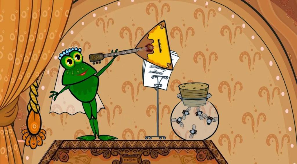 Вздохнул Иванушка, но делать нечего, принёс он лягушку домой.