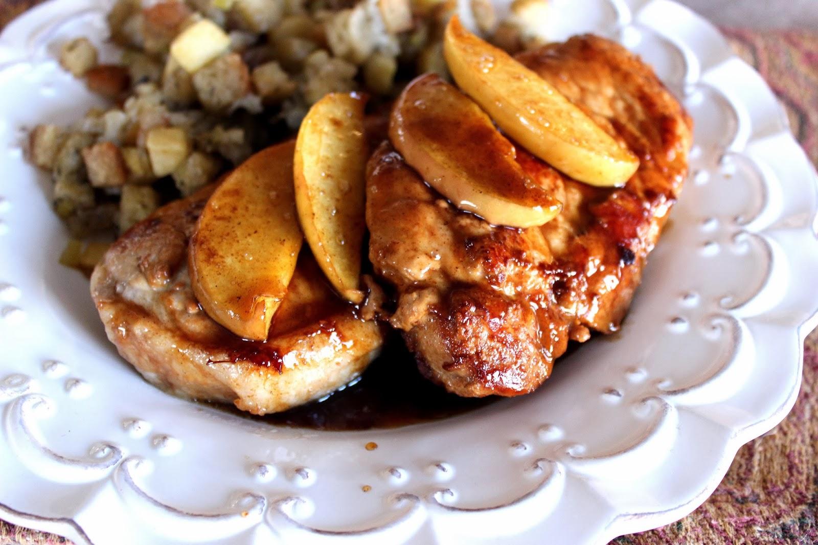 Deals to Meals: Caramel Apple Pork Chops