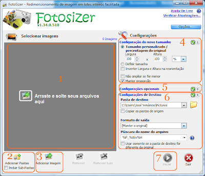 Fotosizer interface