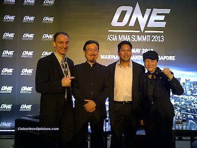 Matt Hume, Robert Lee, Victor Cui, Phoebe Lee at ONE Asia MMA Summit 2013 Singapore ONE FC