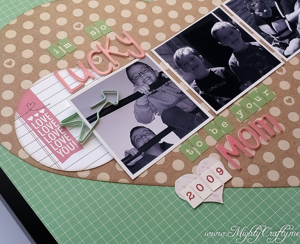 Sketch layout for Practical Scrappers -- I'm So Lucky -- www.MightyCrafty.me