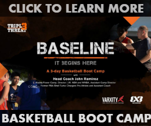 TRIPLE THREAT MANILA'S BASELINE, a three Saturday nights 3x3 Basketball Boot Camp starting September 2