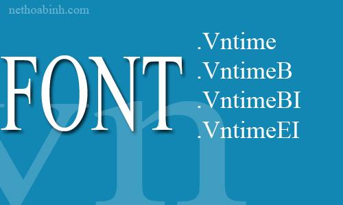 Font vntime, Download Font vntime Full