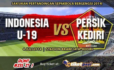 Hasil Skor Akhir: Timnas U-19 vs Persik Kediri Tur Nusantara II (Jum'at, 4 Juli 2014)