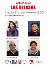 Acto de UNIDAS Podemos en la Barriada de las Delicias