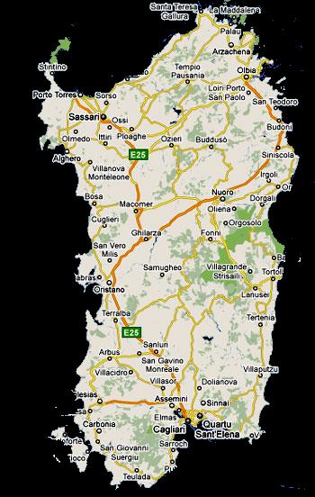 Grandes Villes De Sardaigne
