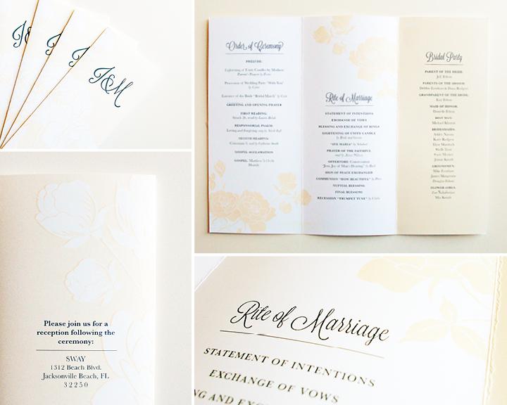 Kimberly Church || Floral Wedding Program
