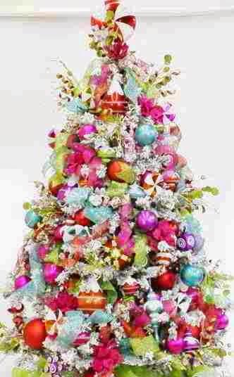 Decoração De Natal~ Decoracao Branca Para Arvore De Natal