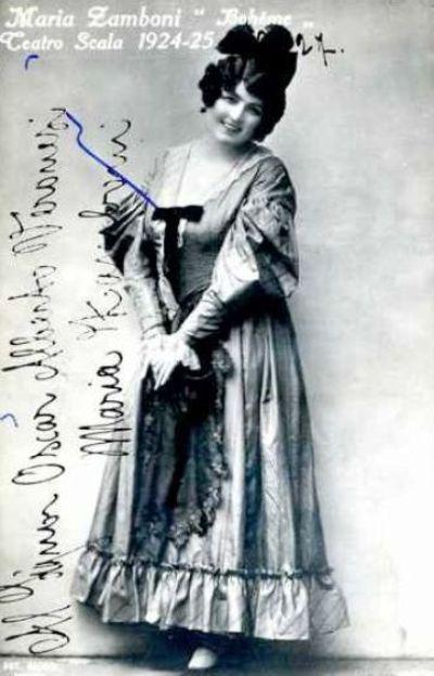 ITALIAN SOPRANO MARIA ZAMBONI (1895-1976) CD