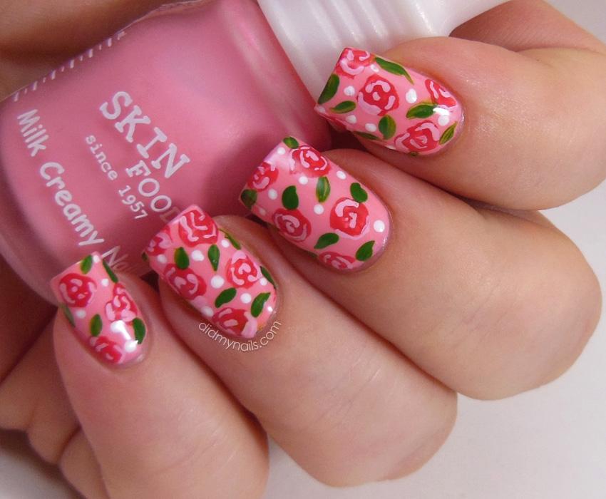 Фото ногти цветочные