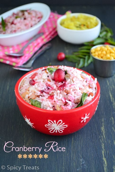 cranberry rice / spicy cranberry rice