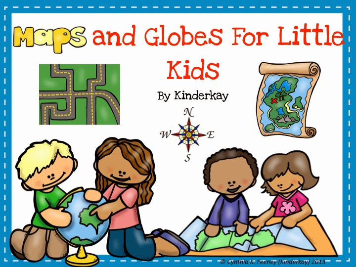http://www.teacherspayteachers.com/Product/Maps-and-Globes-for-Little-Kids-75922