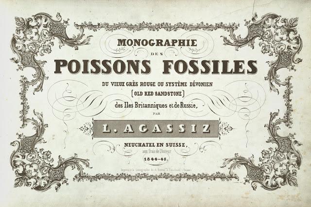 Agassiz, Louis. Monographie des poissons fossiles du vieux gres rouge ou systeme Devonien des Iiles Britanniques et du la Russie. Title page