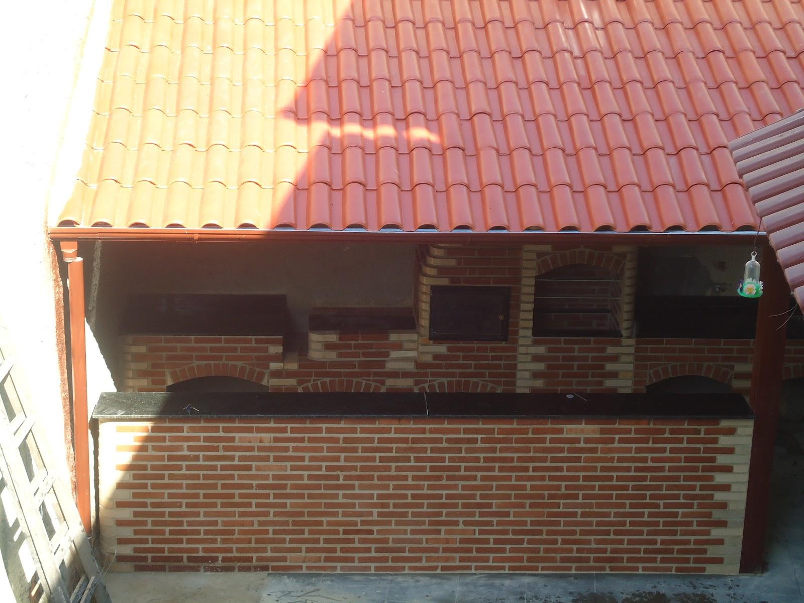 Muito ZANI Churrasqueiras, telhados e projetos: Churrasqueira e telhado  EW44