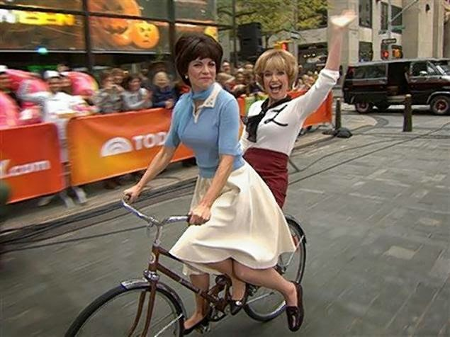 Laverne And Shirley on Bike Halloween Costume