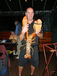 15lb lobster at Benjamin's restaurant in Newport, RI
