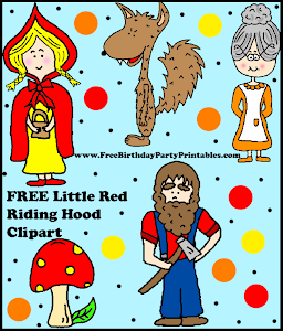 FREE Little Red Riding Hood Birthday Party Printables