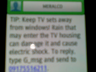 text from Meralco