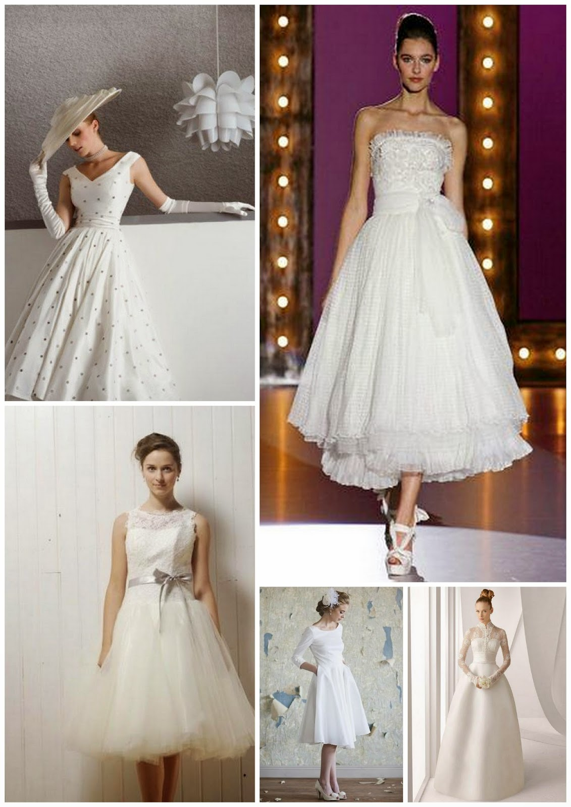 ... Creations presenta:: Vestiti da sposa anni 50. Fifties style wedding