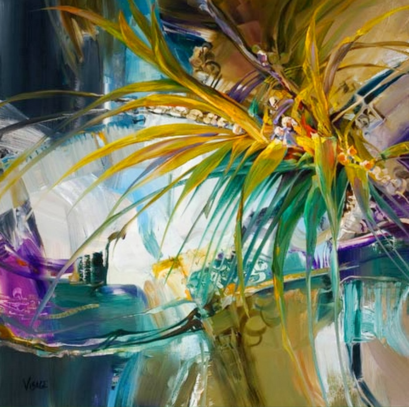 Pintura moderna y fotograf a art stica pintura abstracta - Cuadros modernos con mucho color ...