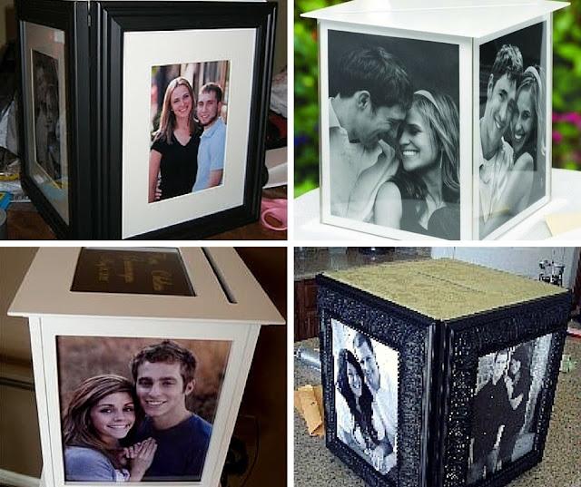 кутия за пликове със снимки на младоженците