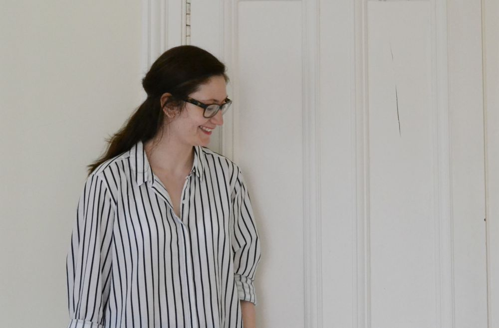 oversize stripe shirt M&S