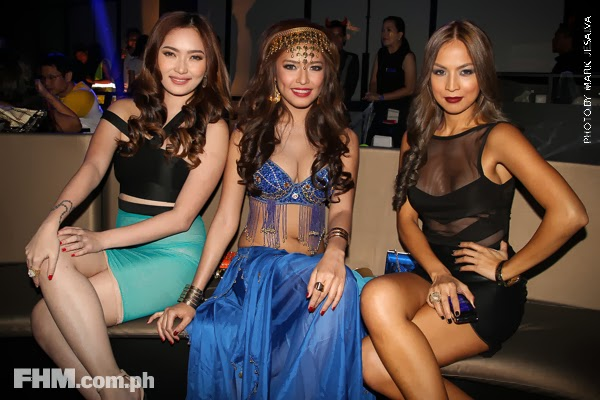 danita paner, bangs garcia and aubrey miles at 2013 fhm halloween ball 03