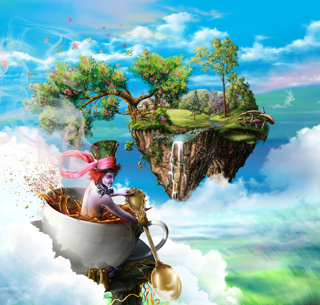 Alice in Wonderland, digital art cool,fantasy wallpaper